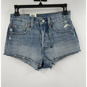 Levis 501  Micro Shorts High Rise Cut Off Demin